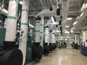 HAP, located along the west side of Van Dyke and north of 16 Mile Rd., employs nearly 2,600 people and is home to the Chrysler 200 and Dodge Avenger. Progressive Mechanical was contracted to install process piping in the chiller room of their new state of the art facility.